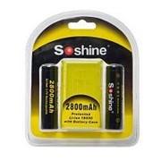 Аккумулятор 18650 Soshine 3,7V, 2800mAh, 2шт. /80/ фото