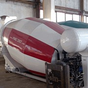 Бетоносмесительные установки объемом смесительного барабана 5, 6, 7куб. м. на шасси КрАЗ, КамаЗ, МАЗ фото