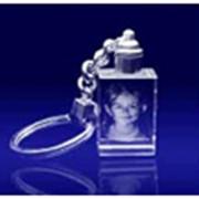 Сувениры из стекла, Брелок Прямоугольный, 40х35х10мм Код Sh88-1 фото