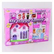 Кукольный домик на батарейках с аксессуарами Моя счастливая семья IM335 фото