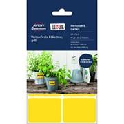 Этикетки самоклеящиеся 62026 Living,всепогодные, желтые, 47,5 х 35 мм, фото