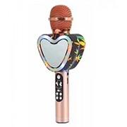 Беспроводной Bluetooth караоке микрофон Q5 Сердце (золото) фото