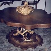 Стол для игры в покер, мебель ручной работы, резьба фото