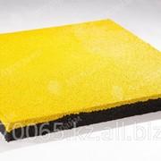 """Резиновая плитка """"Артпрайм"""" 500*500*40, Жёлтый фото"""
