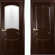 Дверь из бруса Новый стиль Фортис R каштан фото