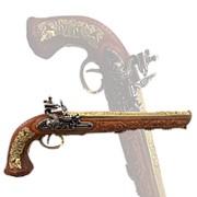 Пистоль дуэльный 1810 г. Boutet, Версаль, флинтлок, латунь фото