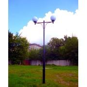 Фонарный столб стальной СФ-06-2 со светильником фото
