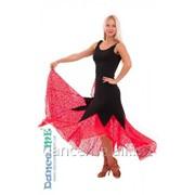 Dance Me Юбка для стандарта ЮС264-Кри11 женская, масло / гипюр, черный / красный фото
