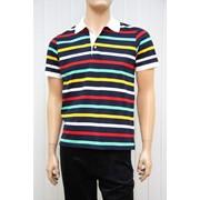 Рубашка-поло полосатая фото