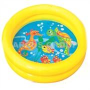 Intex бассейн надувной дно с рыбками 61*15см фото