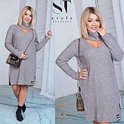 Платье женское с чокером PY/-019 - Серый фото