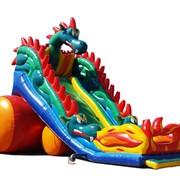Надувная горка батут Змей Горыныч фото
