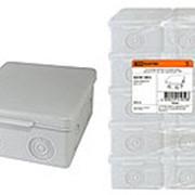 Распаячная коробка ОП 80х80х50мм, крышка, IP54, 7вх., без гермовводов TDM фото