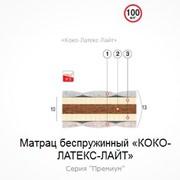 Матрац беспружинный Коко-Латекс-Лайт 190х160 фото