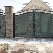 Кованые ворота с аркой фото