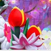 Цветы, букеты, гирлянды надувные фото