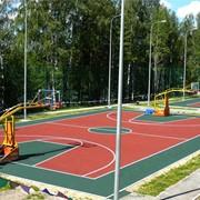Покрытие однослойное водопроницаемое цветное для школ, детских садиков, площадок в парках, дворовых территорий фото