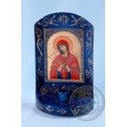Семистрельная икона Божией Матери, фарфор фото