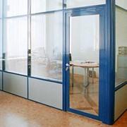 Перегородки офисные прозрачные фото