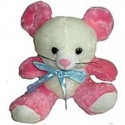 Мягкая игрушка Мышка с бантом 20см фото