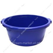 Таз полиэтиленовый для пищевых продуктов 50л круглый цветной Горизонт №438375 фото