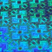 Голограмма наклейка на синем (УН-1) фото