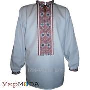 Мужская рубашка-вышиванка - ручная вышивка (00006) фото