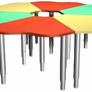 Стол Ромашка - регулируемые ножки фото
