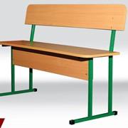 Лава 2-местная разборная с спинкой. Мебель для столовых фото