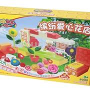 Пластилин-тесто Happy dough Цветочная ферма + конструктор фото