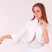 Жакет свадебный меховой для невесты фото