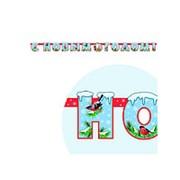 Праздничная гирлянда С новым годом Дед Мороз и Снегурочка фото