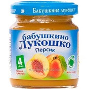 Пюре Бабушкино Лукошко - персик, 4 мес., 100 гр фото