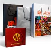 Изготовление подарочных пакетов с лого фото