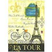 Декупажная карта Тур в Париж фото