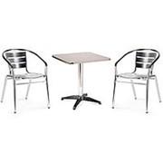 Комплект мебели LFT-3059/T3125-60x60 Silver (2+1) фото