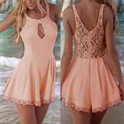 Платье комбинезон, летнее платье, женский комбинезон лето фото