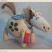 Изделия из керамики декоративные к новому году подарки - Лошадки 2014 фото