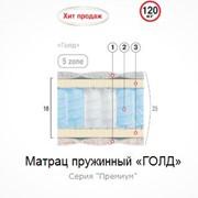 Матрац пружинный Голд 190х90 фото
