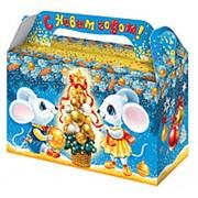 """Коробка для конфет новогодняя Fiesta """"Настроение"""" 500 гр., 15010501 фото"""