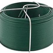 Сибртех Проволока с ПВХ покрытием, зеленая 0,9 мм, длина 50 м Сибртех фото