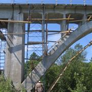 Ремонт железнодорожного моста фото