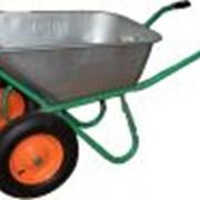 Тачка садово-строительная 2 колеса фото