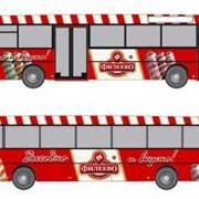 Реклама на бортах автобусов, трамваев, троллейбусов фото