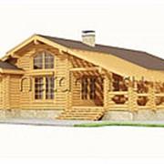 Дом из оцилиндрованного бревна 12х14,1 фото