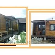 Трехмодульный банный дом 6,3х6,9х3,0 клееный брус, комплектация Базовая фото