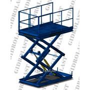 Стол подъемный гидравлический двухножничный Gidrolast 2X1300.1000.1000.1280 фото