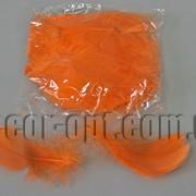 Перья оранжевые 5-15 см 100 шт 3661 фото