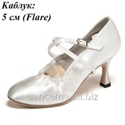 Dance Me Обувь женская для стандарта 501, 7-белый сатин фото