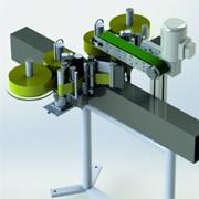 Аппликатор самоклеющейся этикетки линейного типа двухсторонний производительностью до 3000 ед./час фото